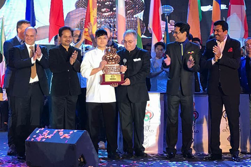 ICI culinary student won Bronze Award in 4th International Young Chef Olympiad 2018