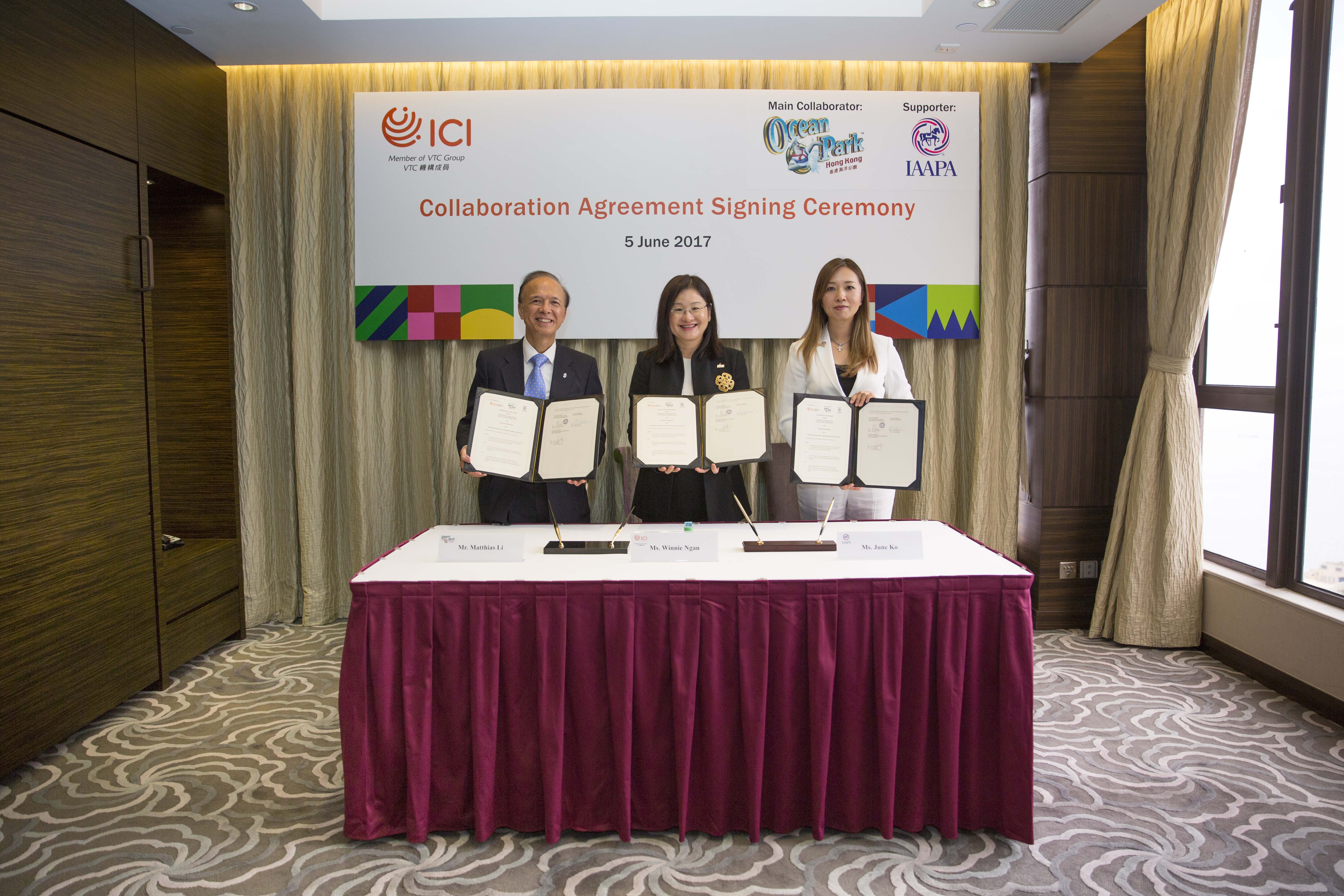 MOU Signing Ceremony with Ocean Park and IAAPA